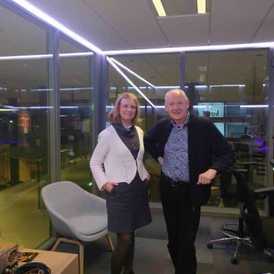 Esther Vermeulen met John Brosens