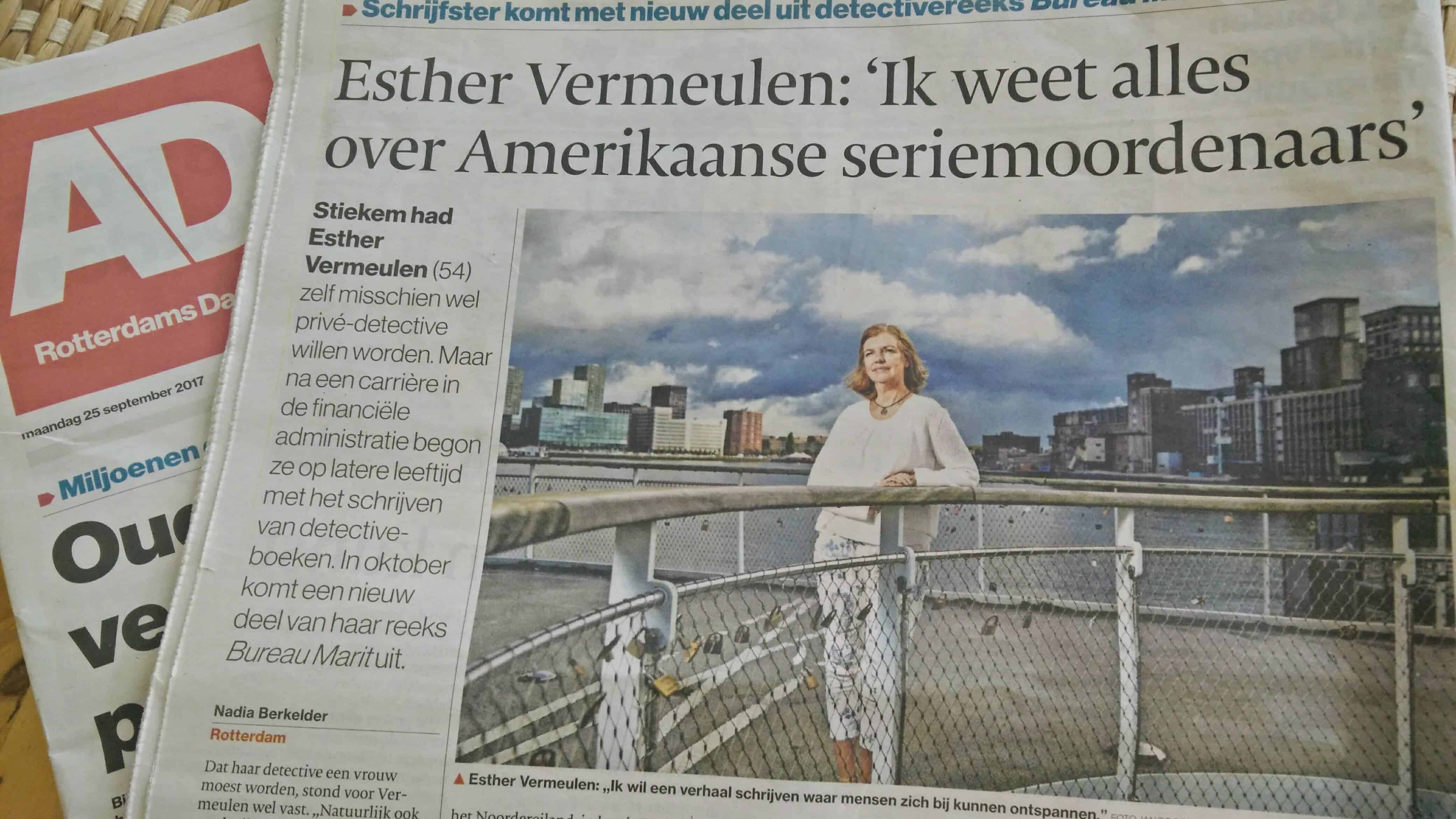 Interview Esther Vermeulen door Algemeen Dagblad