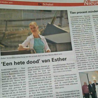Interview met Esther Vermeulen in de krant
